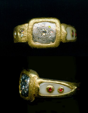 Elements from Family Jewels Made into a New Ring 24kt. Gold