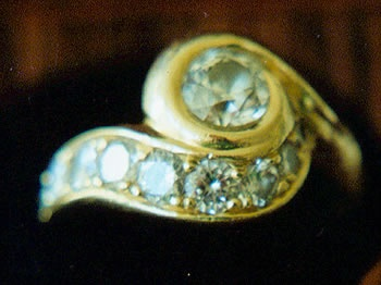 Diamonds with 18kt. Gold