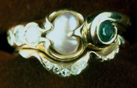 Diamonds, Pearl and Emerald