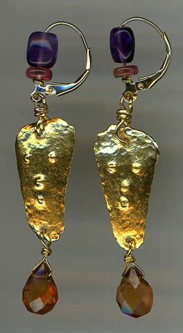 24kt. Gold Amethyst Tourmaline Garnet