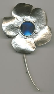 Sterling Silver Flower Mirror with Essential Oil Fragrance