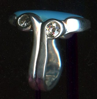 Turquoise Diamond Sterling Silver
