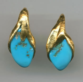 Turquoise 24kt. Gold