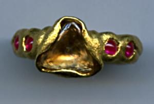 Cognac Diamond Macle Ruby 24kt. Gold