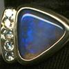 Australian Opal  Diamonds  18kt. Gold