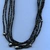 Black Tourmaline   Black Pearls Fine Silver