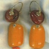 Antique Baltic Amber  Pink Coral  18kt. Gold