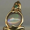 Autralian Opal  Emerald  18kt. Gold