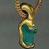 Natural Paraiba Crystal  24kt Gold