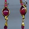 Rhodonite Ruby Spinel Sapphire 24kt. Gold