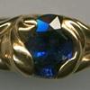 Sapphire  24kt. Gold