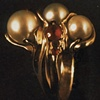 Freshwater Pearls  Rubies  18kt. Gold