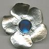 Sterling Silver Flower Mirror  Essential Oil Fragrance