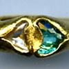 Paraiba Tourmaline Diamond Crystal 24kt. Gold