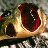 Baroque Navajo Garnets  24kt. Gold