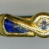 Lapis Diamond Peridot 24kt. Gold