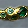 Emerald Paraiba Tourmaline  24kt. Gold