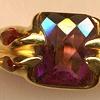 Amethyst Garnet 18kt. Gold