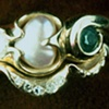 Diamonds Pearl  Emerald Diamond Guard Band 18kt. Gold