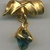 Blue Zircon  24kt. Gold