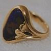 Australian Matrix Opal  Sapphire  18kt. Gold