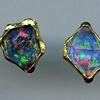 Australian Opal 24kt. Gold