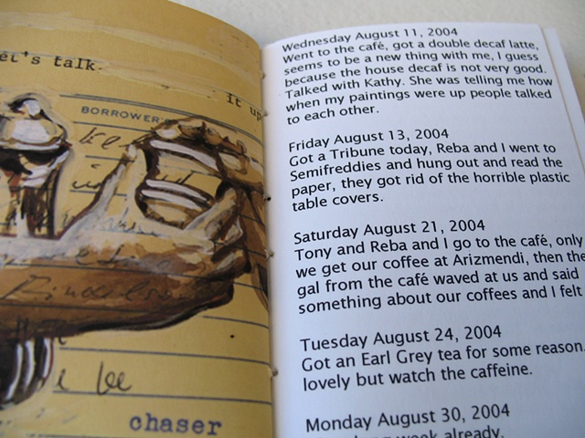 The Coffee Diary book, detail