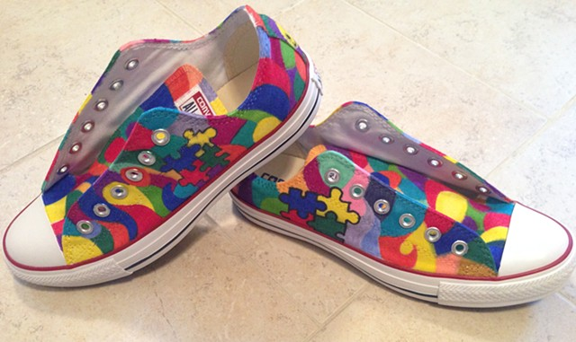 Autism Awareness Friday Shoes