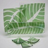 Leaf Dishes (irridized light green)