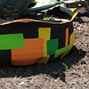 Orange and green rectangles side view