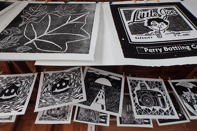 Portraits of Perry: Steamroll Printmaking Project