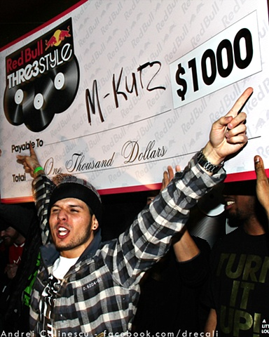 Red Bull Thr3e Style DJ Photo Competition, M-Kutz, Up on Carling, London, Ontario, club, house, trance, top 40, winner, prize, scratch
