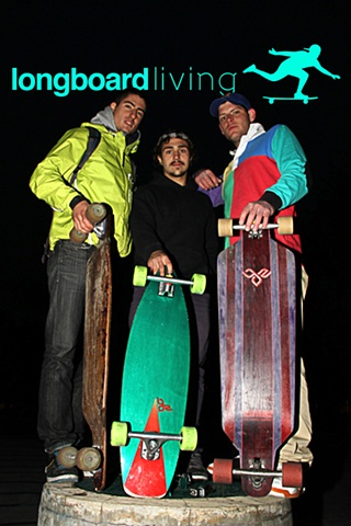 Nethanial Cohen from New York with Mike Boz from BOZ boards and Ryan Rubin from Longboard living in Toronto