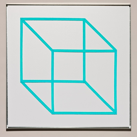 blue necker's cube
