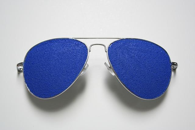 self portrait (blue sunglasses)