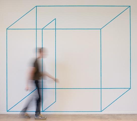 2-D blue room