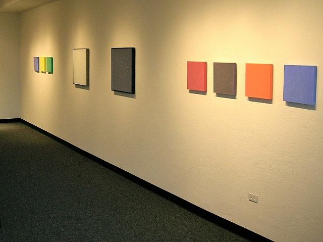 de lux: reflective phosphorescent paintings installation view