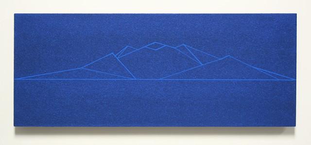 blue bead mountain study no. 2