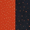 blue and orange dots (diptych)