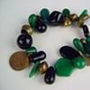 107 Bracelet - Viridian Marriage Beads