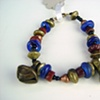 108  Bracelet - Blue Glass and Carnelian