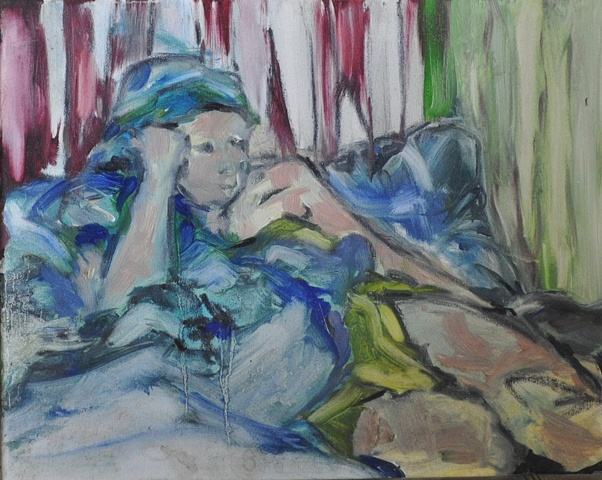 Figure at rest by Angela Stadlwieser. Oil on canvas. 2007.