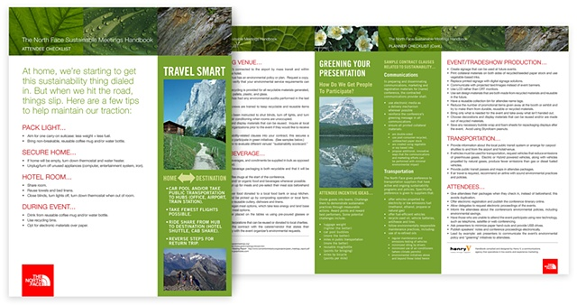 The North Face  Green Event Planner guide and checklist posted to company intranet