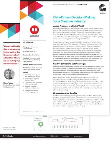 Case Study Design template  Client: GoodData 2015
