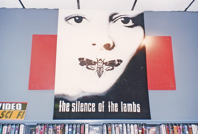 Silence of the Lambs Display 4'x6' Foamcore, acrylic paints + stippling with sharpie  Client: Tower Records + Video