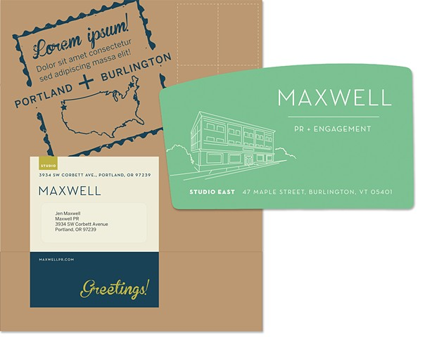 Architectural Illustration and mailer for MaxwellPR's new location  Client: Fancypants Design