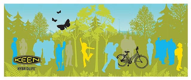 KEEN  Proposed Mural for the Hybrid.STAND campaign using brand imagery