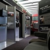 Freightliner  Photo of installation graphics + digital file of the Sound Comparison Kiosk for the Cascadia Trailer Experience 2007