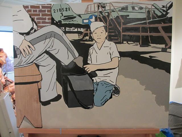 CoCA 24 Hour Art Marathon Painting