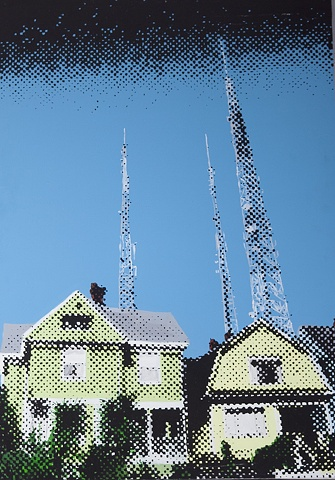 Homes, Capitol Hill, Radio Tower, Pixel
